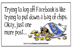 Facebook is like a  bag of chips